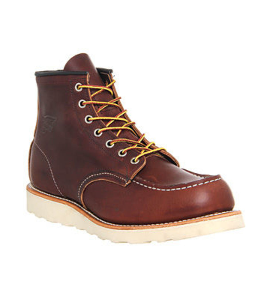 Redwing Work Wedge boots BROWN LEATHER,Brown,Red