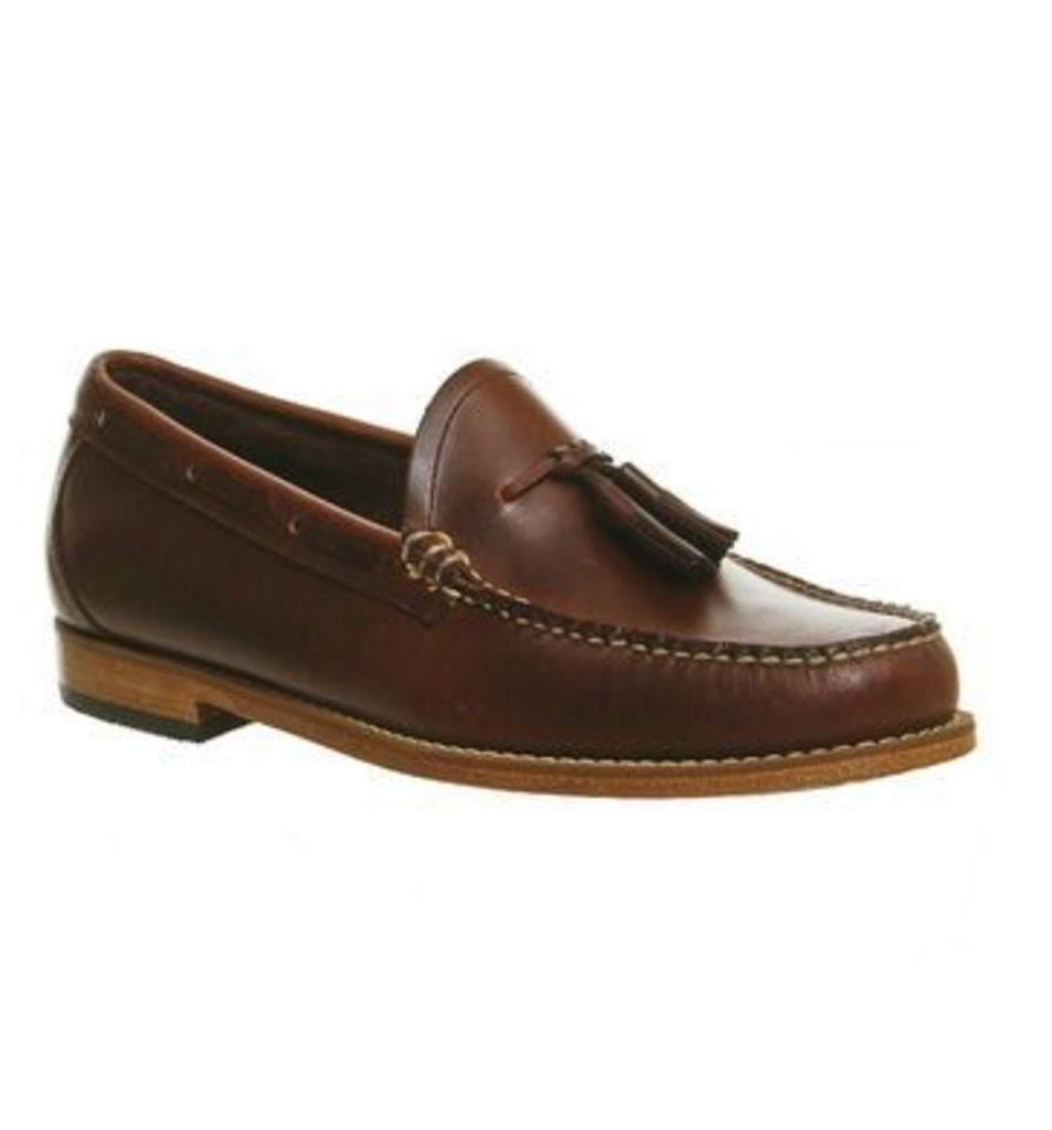 G.H Bass Weejun Larkin Pull Up Loafers DARK BROWN LEATHER