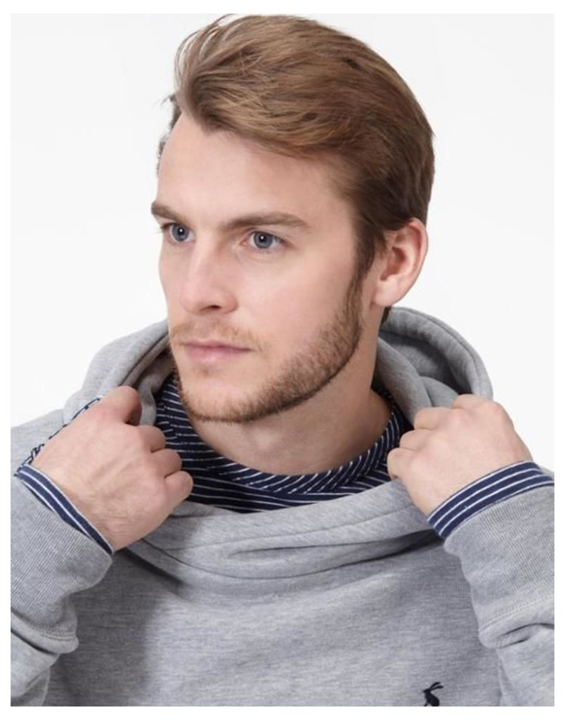Grey Marl Harmon Hooded Sweatshirt  Size L   Joules UK